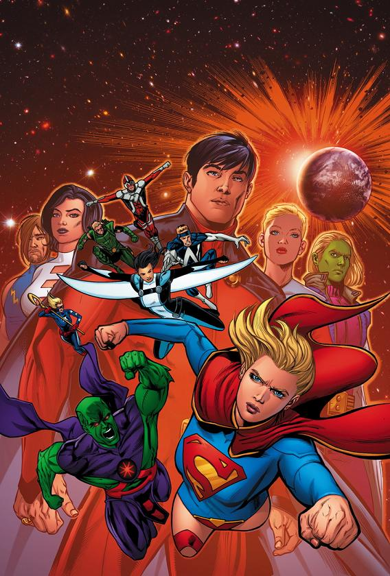 Portada del Justice League United Annual #1 por Neil Edwards