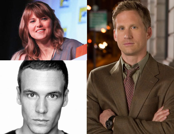 Lucy Lawless,  Nick Blood (izq. abajo) y Reed Diamond, nuevas caras de Agents of S.H.I.E.L.D.