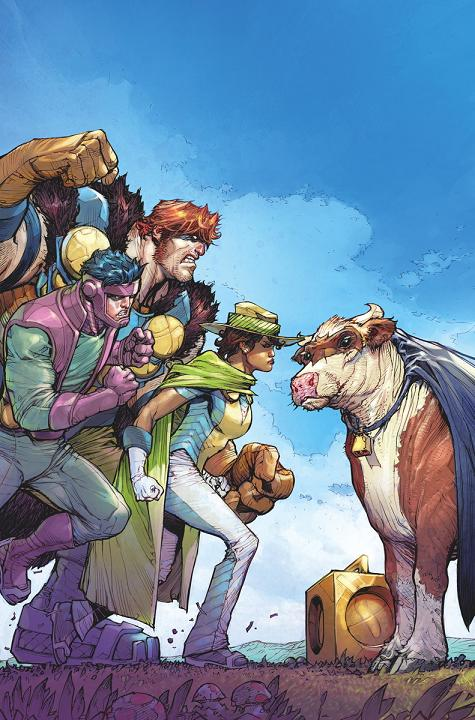 Portada del Infinity Man and The Forever People #4 por Howard Porter