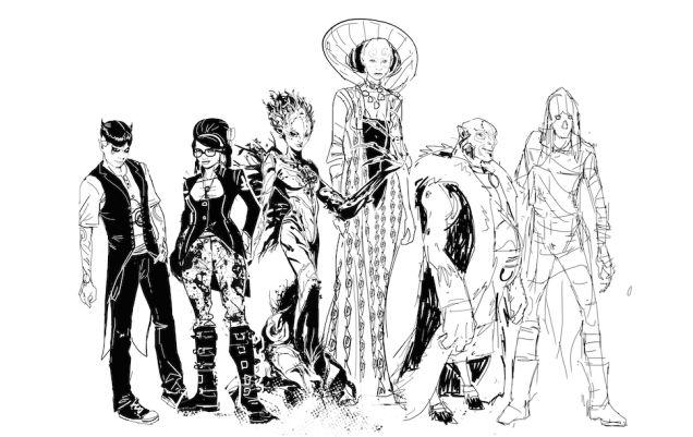 Bocetos de Trevor McCarthy para Klarion