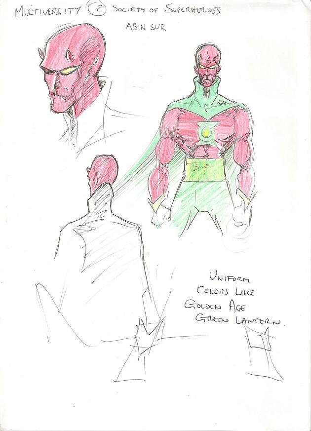 Bocetos de Chris Sprouse para The Society of Super-Heroes: Conquerors of the Counter-World