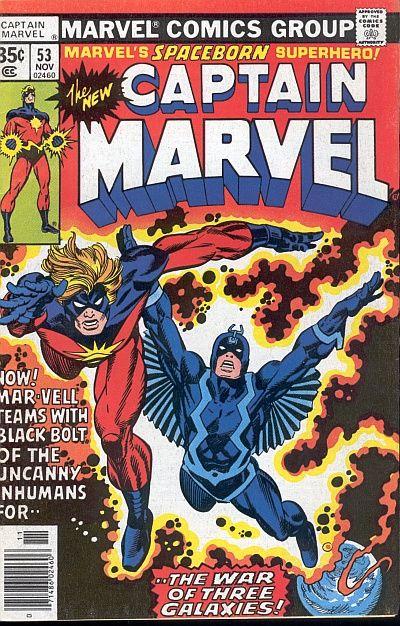Mar-Vell y y Rayo Negro, por Gil Kane