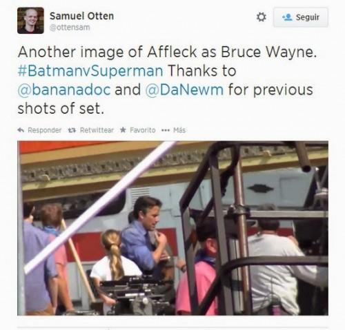 Primera imagen de Ben Affleck como Bruce Wayne
