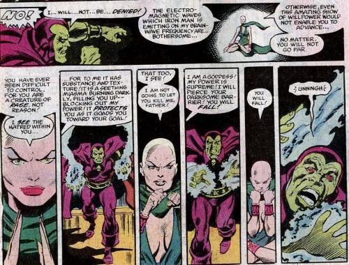Moondragon kills Drax