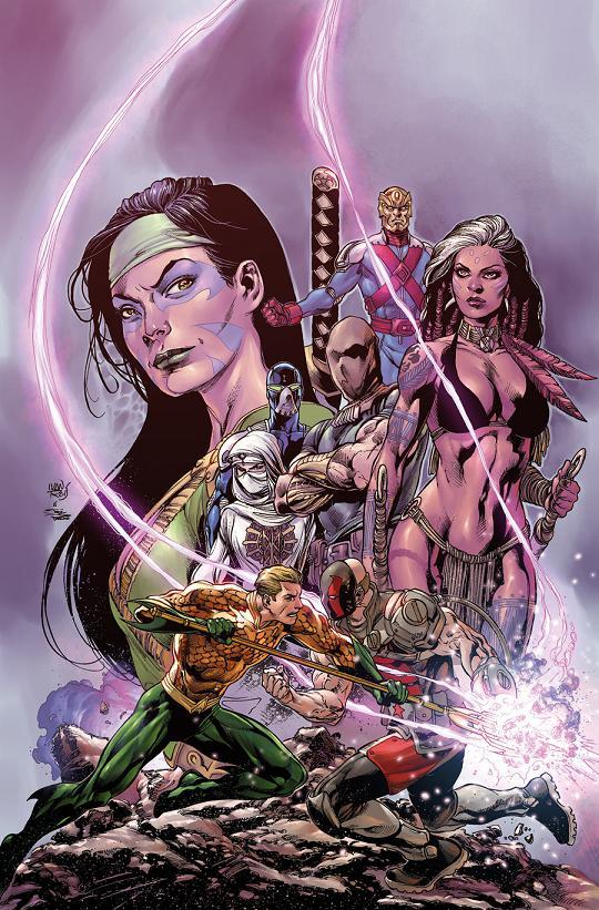 Portada del Aquaman and The Others #7 por Ivan Reis
