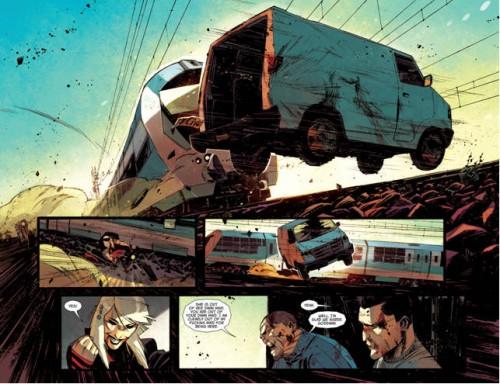 Pocas veces hemos visto una persecución tan cinematográfica en cómic