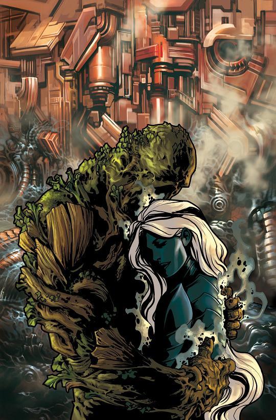 Portada del Swamp Thing #36 por Jesús Saiz