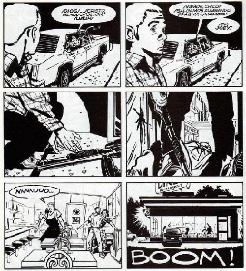 Brillante secuenciación de Lapham de la masacre perpetrada por un Joey enajenado