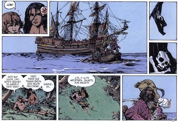 La bandera pirata que ondea en el mástil no presagia nada bueno para Andrew y Timi