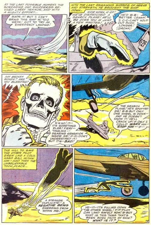 El origen de Negative Man con lápices de Bruno Premiani