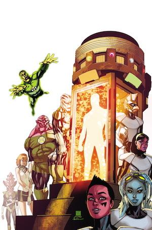 Portada de Green Lantern Corps #37 por Bernard Chang y RHATO #37 por Stephen Segovia