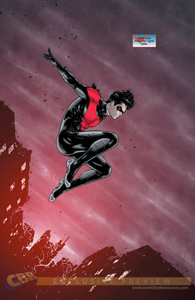 Una bella pose de Nightwing.