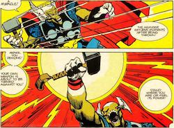 Bill conoce el poder de Thor