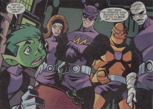 Los curiosos uniformes de la Doom Patrol en Teen Titans