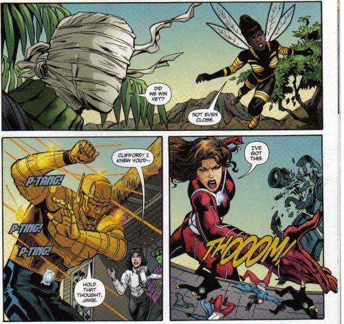 La Doom Patrol en acción, con lápices de Ron Randall