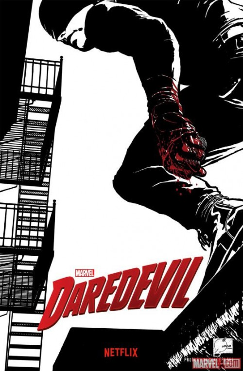 Poster concept-art de Daredevil realizado por Joe Quesada