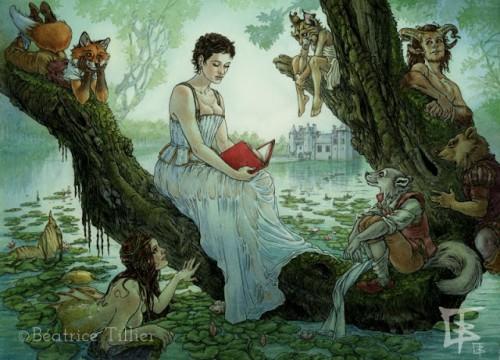 Imagen promocional de El bosque de las vírgenes por Beatrice Tillier