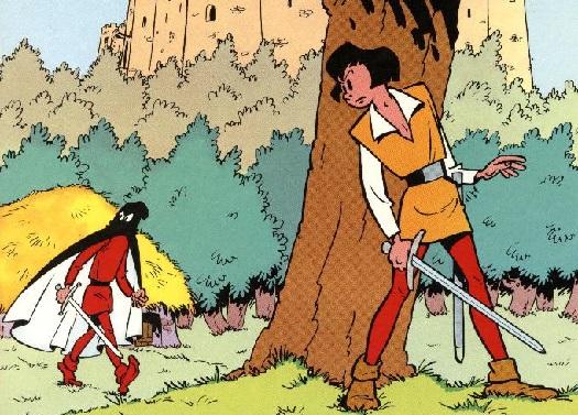Detalle de la cubierta de 'El amo de Roucybeuf'