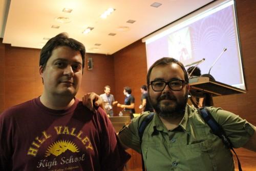 Manuel Bartual y Albert Monteys tras la presentación de Orgullo y Satisfacción