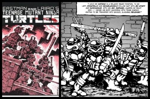 Primera portada y aspecto del cómic original