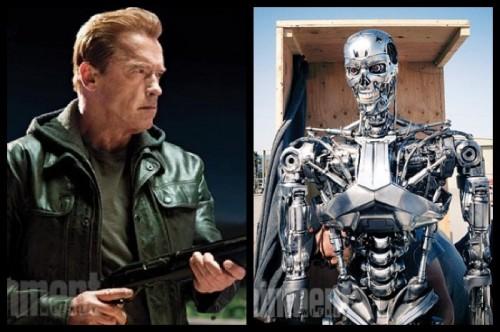 El aspecto que lucirá Schwarzenegger en la cinta y el mítico T-800