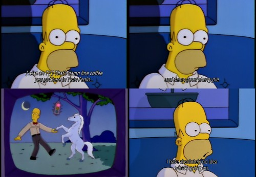 Reconozcamos que todos hemos visto Twin Peaks como Homer
