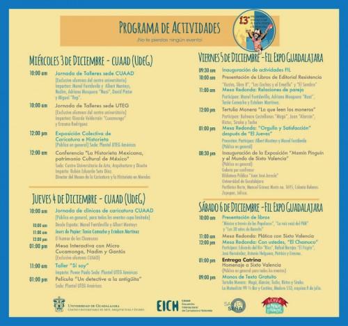 Cronograma_13_Encuentro_Historieta_Guadalajara