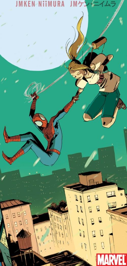 Viñeta de una de las historias cortas de Ken Niimura para Marvel.