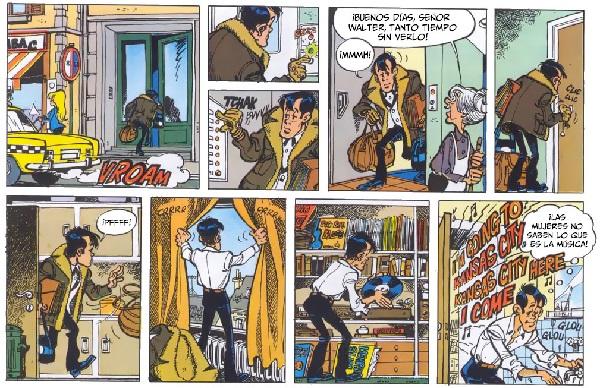 Walthéry divide la página cada vez en más viñetas