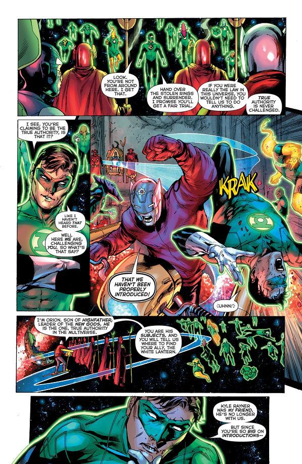 Jordan conoce a Orion. Tranquilo Hal, Clark y Diana ya lo han sufrido antes.