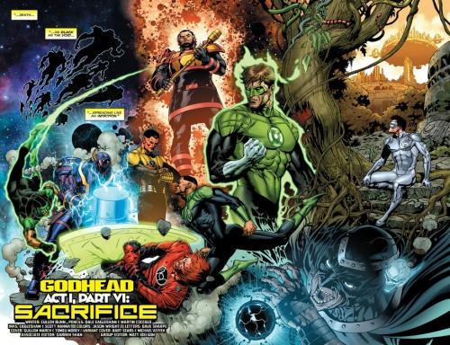 Nuevos Dioses, y todos los Lanterns humanos. Y por todos, decimos TODOS. Ups...