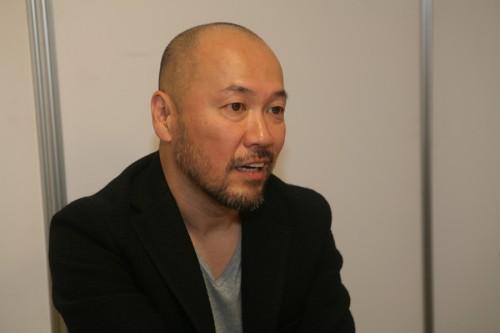 Inoue durante nuestra entrevista (foto de Ficomic).