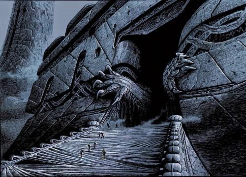 Ilustración para adaptación de La Llamada de Cthulhu