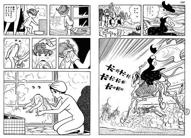 Aunque Alabaster sea el villano de la función, algunas de las planchas más turbadoras están protagonizadas por Ami, como el baño de la pág.080 (izquierda) o la cabalgada de la pág.366 (derecha)