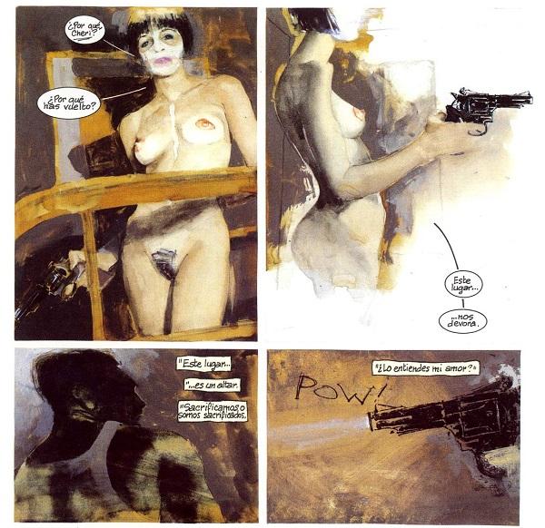 Las bellísimas pinturas de Williams también sirven, a veces, para narrar a la manera clásica