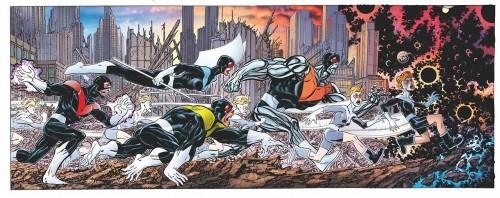 Imagen completa de las cuatro portadas de Triple Helix