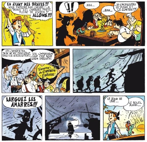 El personaje va cambiando de aspecto en cada entrega, a comodidad de su dibujante