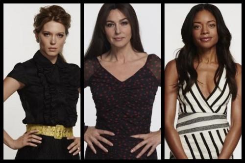 Las nuevas chicas Bond junto a Miss Moneypenny