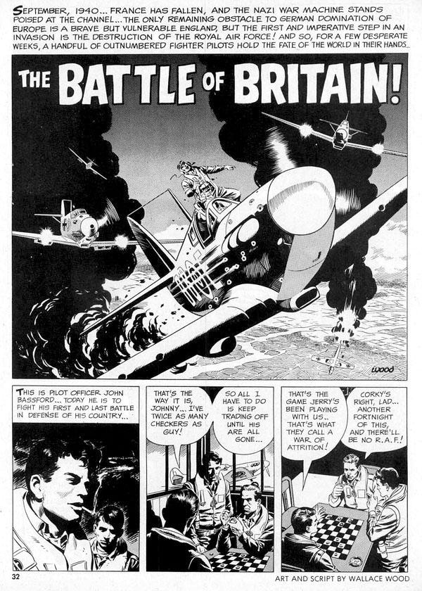 La única historia del tomo no escrita por Goodwin es La batalla de Inglaterra, una de las contribuciones de Wallace Wood