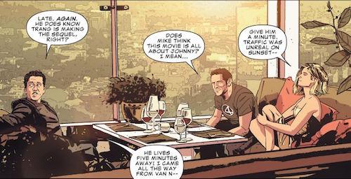 Cameo de los actores de Fantastic Four en la serie de Punisher, donde, por cierto, no tardan en morir.