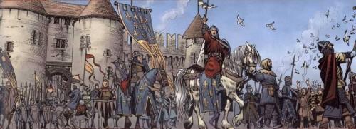 El Rey de Francia parte a las Cruzadas por Carlos Gómez