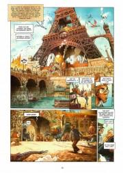 Algunas de las espectaculares páginas de Barbucci para Ekho 2