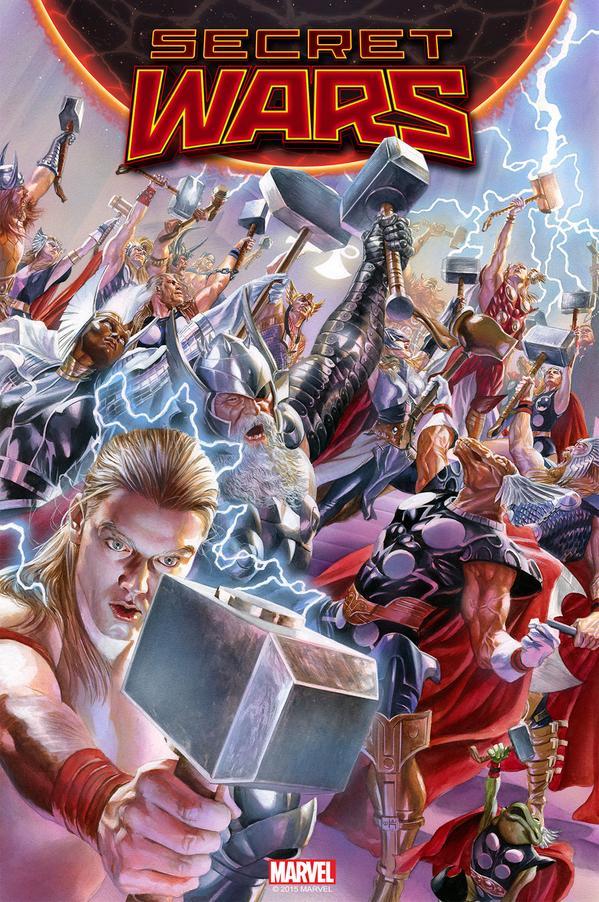 Thors a puñados y para todos los gustos / Portada Secret Wars 2 / Alex Ross