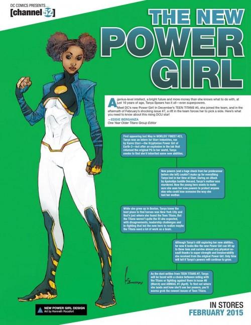Así presentaban la nueva Power Girl diseñada por Kenneth Rocafort