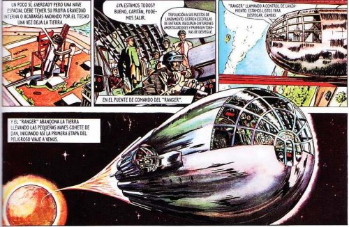 Dan Dare viaja a Venus a bordo del Ranger
