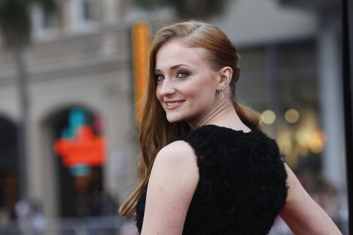 """Cast member Turner poses at the premiere for the third season of the television series """"Game of Thrones"""" in Hollywood"""
