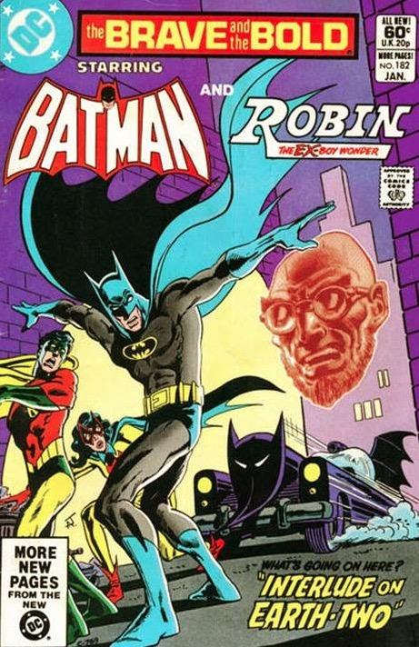 Encuentro entre dick Grayson de Tierra dos y Batman de Tierra uno en The Brave and The Bold