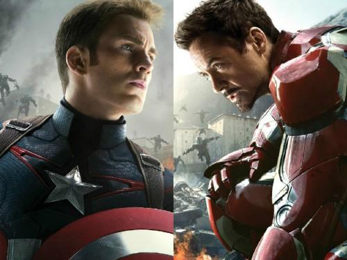 Iron Man y el Capi, rivales en Civil War