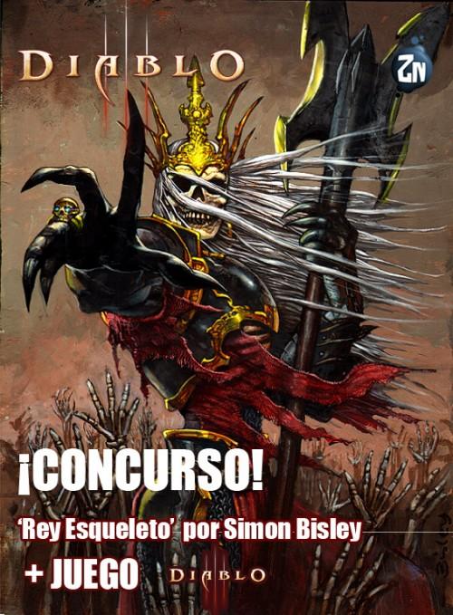 Poster Rey Esqueleto / Simon Bisley / Diablo III