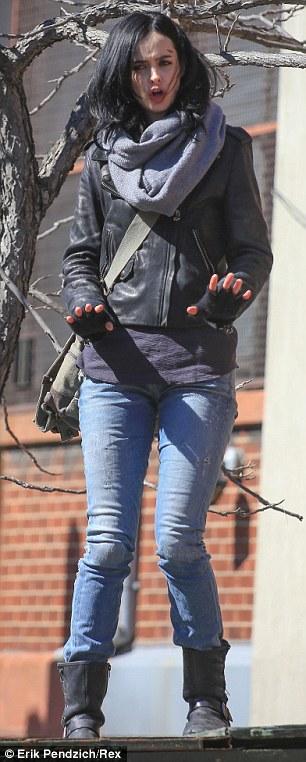 Krysten Ritter en el rodaje de A.K.A. Jessica Jones